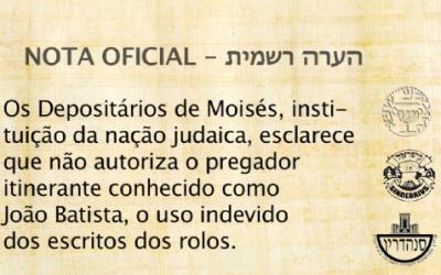 Presumível Nota Oficial sobre João Batista